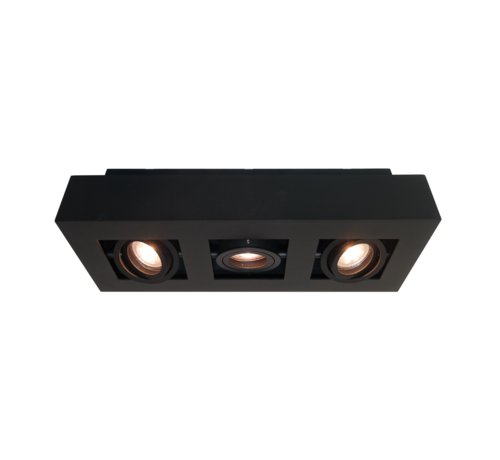 Artdelight Plafondlamp Bosco 3L - Zwart