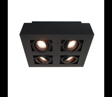 Artdelight Plafondlamp Bosco 4L - Zwart