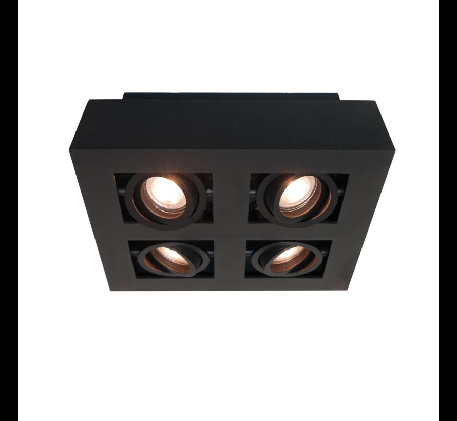 Plafondlamp Bosco 4L - Zwart