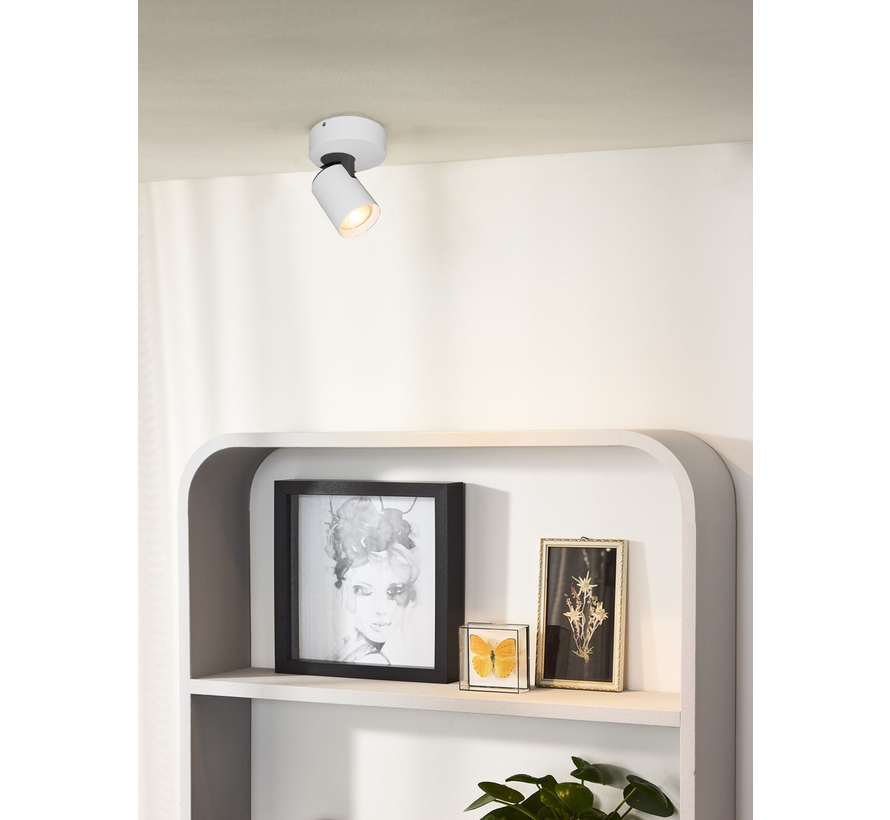 Plafondlamp Vivaro 1L Rond - Wit
