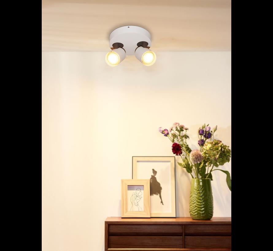 Plafondlamp Vivaro 2L Rond - Wit