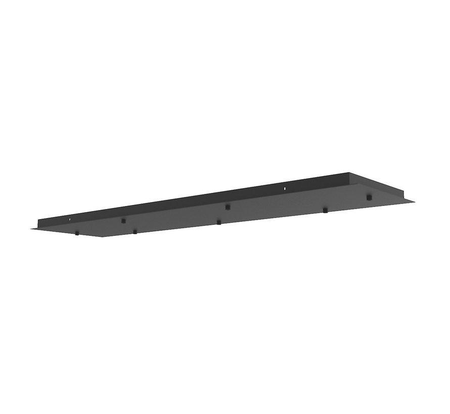 Plate 7L Recht 120x30cm - Zwart
