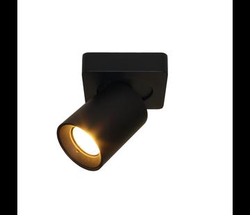 Artdelight Plafondlamp Megano 1L - Zwart