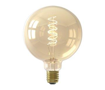Calex Calex - E27 Led Filament Globe 125mm Gold 4W 2100K 200lm - Dimbaar