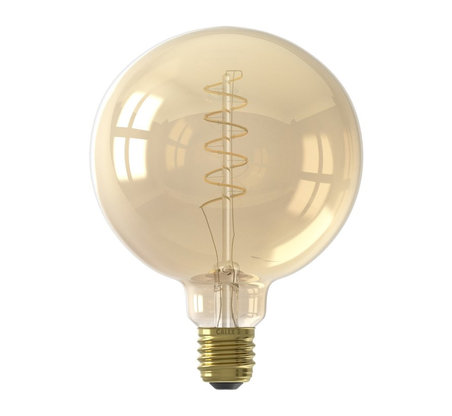 Calex - E27 Led Filament Globe 125mm Gold 4W 2100K 200lm - Dimbaar