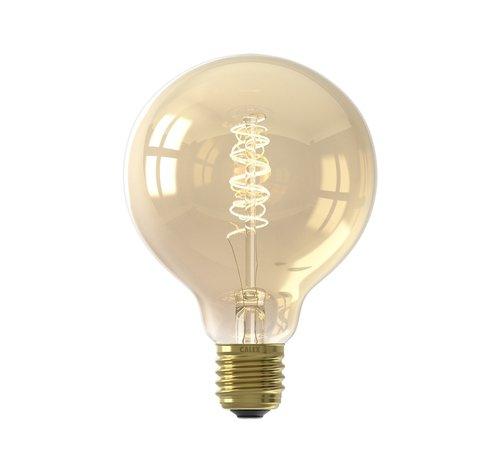Calex E27 Led Filament Globe 95mm Gold 4W 2100K 200lm - Dimbaar