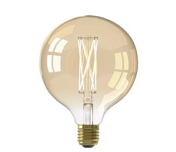 Calex Calex - E27 Led Filament Globe 125mm Gold 4W 2100K 320lm - Dimbaar