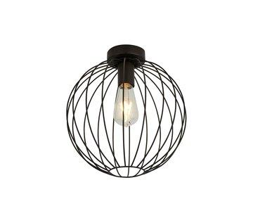 Searchlight Plafondlamp Wire - Zwart