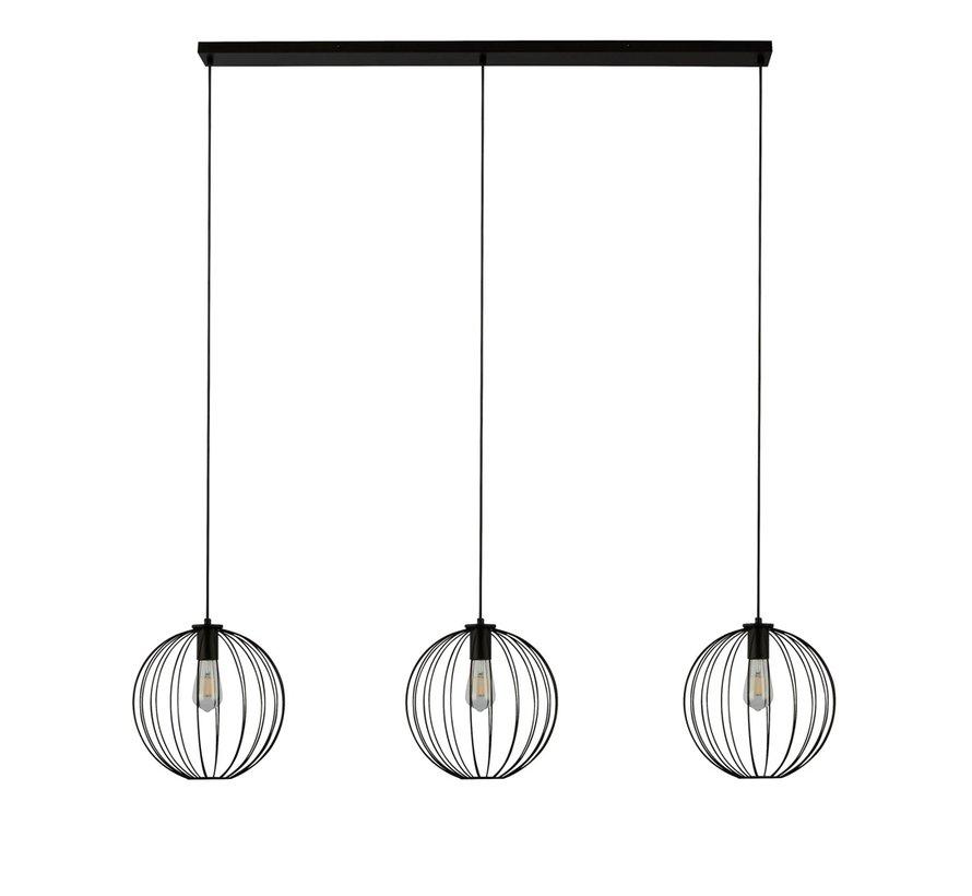 Hanglamp Wire 3L - Zwart