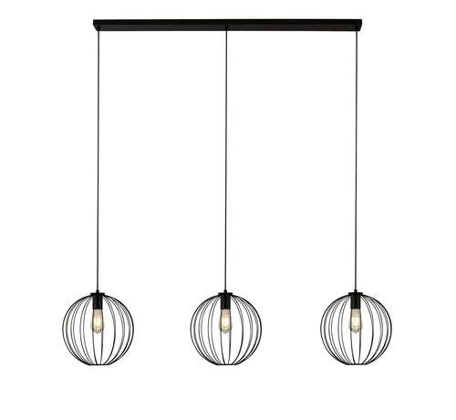 Searchlight Hanglamp Wire 3L - Zwart