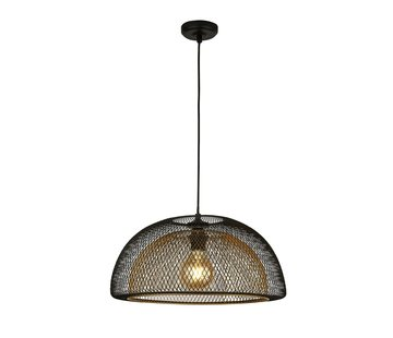 Searchlight Hanglamp Honeycomb - Zwart/Goud