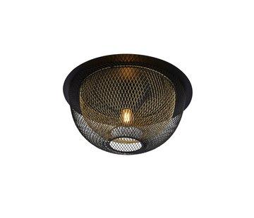 Searchlight Plafondlamp Honeycomb - Zwart/Goud