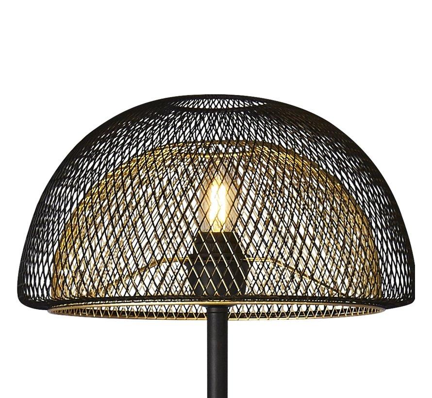 Vloerlamp Honeycomb - Zwart/Goud