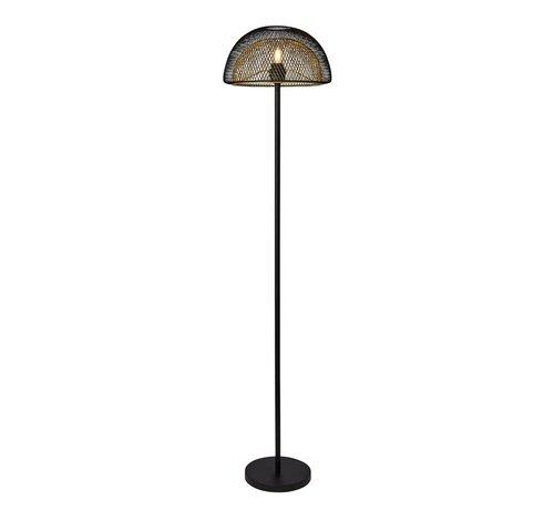 Searchlight Vloerlamp Honeycomb - Zwart/Goud