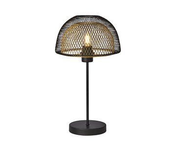 Searchlight Tafellamp Honeycomb - Zwart/Goud