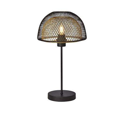 Searchlight Tafellamp Honeycomb - Zwart/Goud