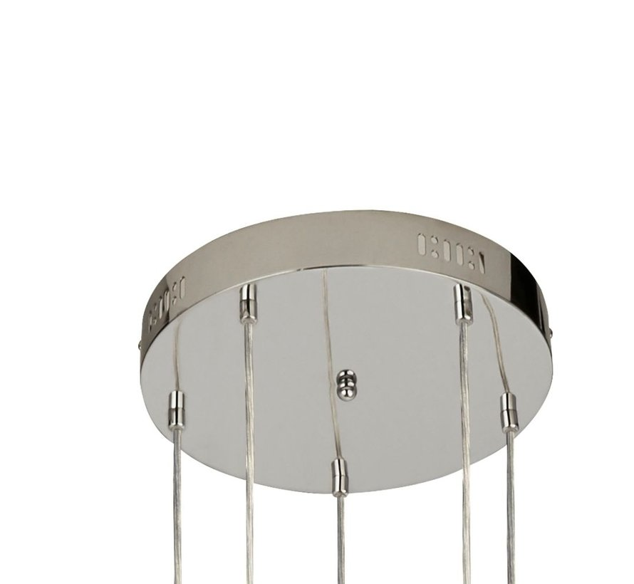 Hanglamp Cyclone 5L Vide - Chroom/Smoke