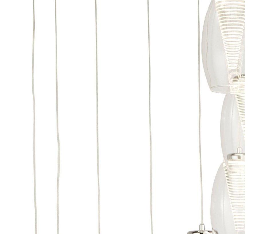 Hanglamp Cyclone 12L Vide - Chroom/Helder