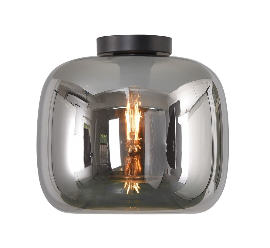 Plafondlamp Preston 28cm - Smoke