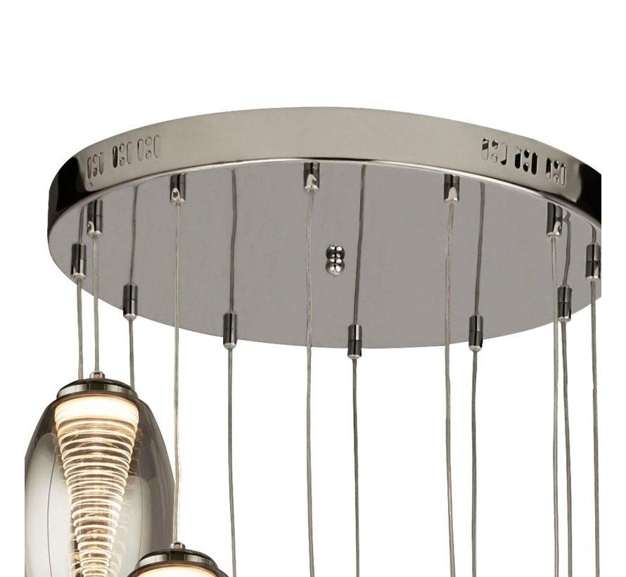 Hanglamp Cyclone 12L Vide - Chroom/Smoke