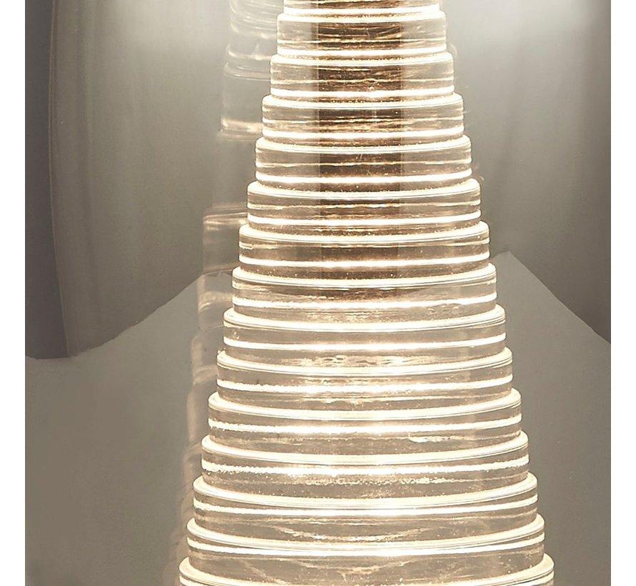 Tafellamp Cyclone - Chroom/Smoke