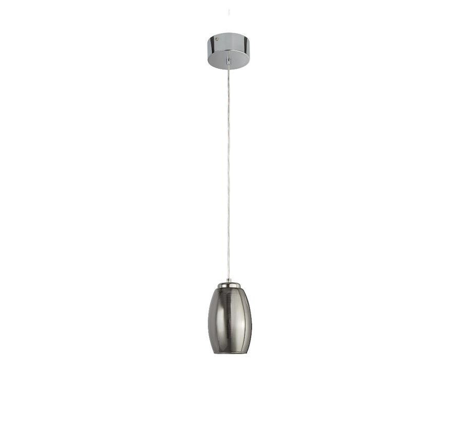 Hanglamp Cyclone - Chroom/Smoke