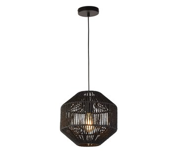 Searchlight Hanglamp Wicker - Zwart