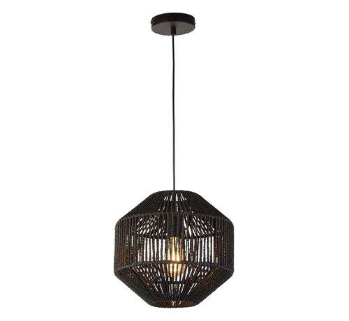 Searchlight Hanglamp Wicker - Zwart