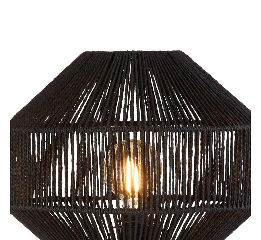 Vloerlamp Wicker - Zwart