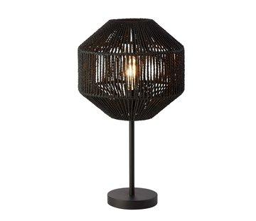 Searchlight Tafellamp Wicker - Zwart
