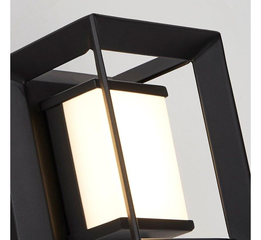Wandlamp Chaplin Vierkant - Zwart