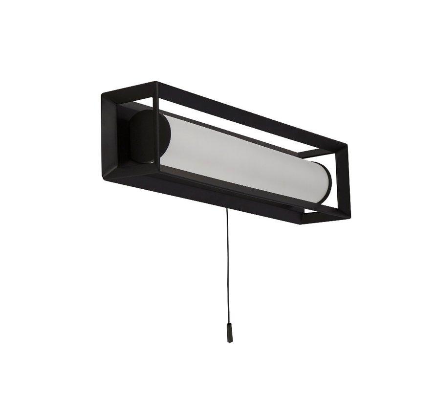 Wandlamp Chaplin Rechthoek - Zwart