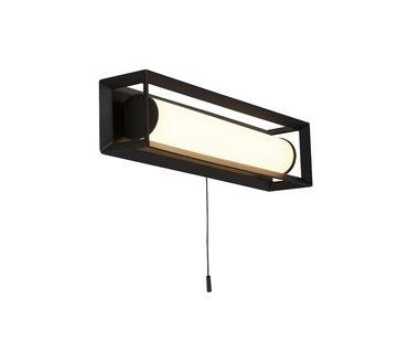 Searchlight Wandlamp Chaplin Rechthoek - Zwart