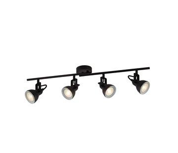 Searchlight Plafondlamp Focus 4L - Zwart