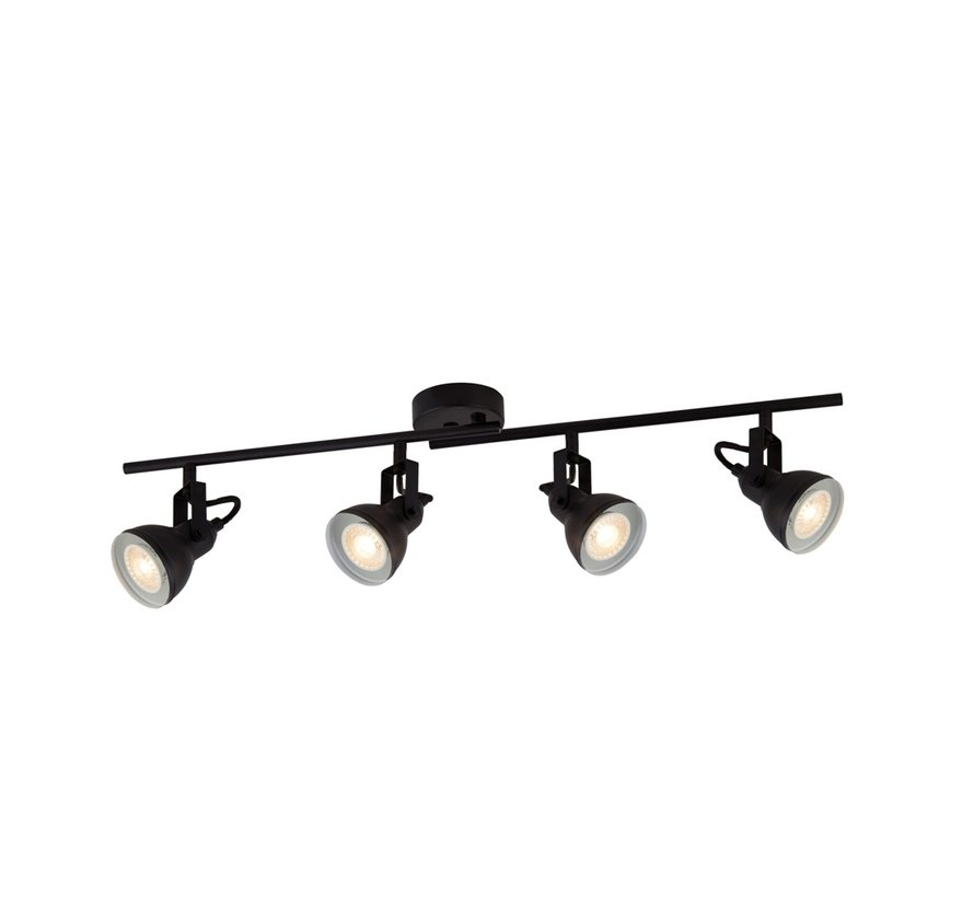 Plafondlamp Focus 4L - Zwart