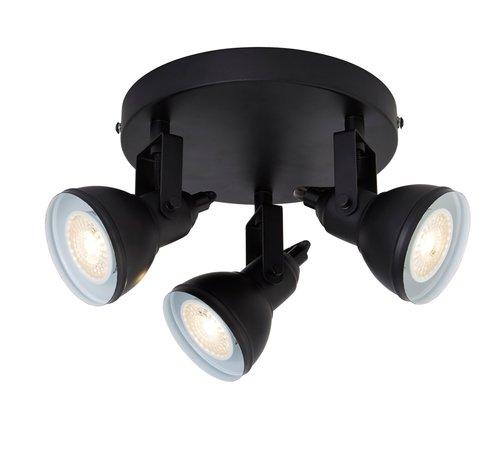 Searchlight Plafondlamp Focus 3L - Zwart