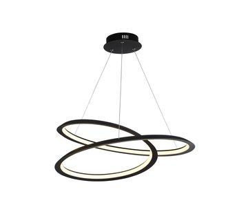 Searchlight Hanglamp Swirl - Zwart