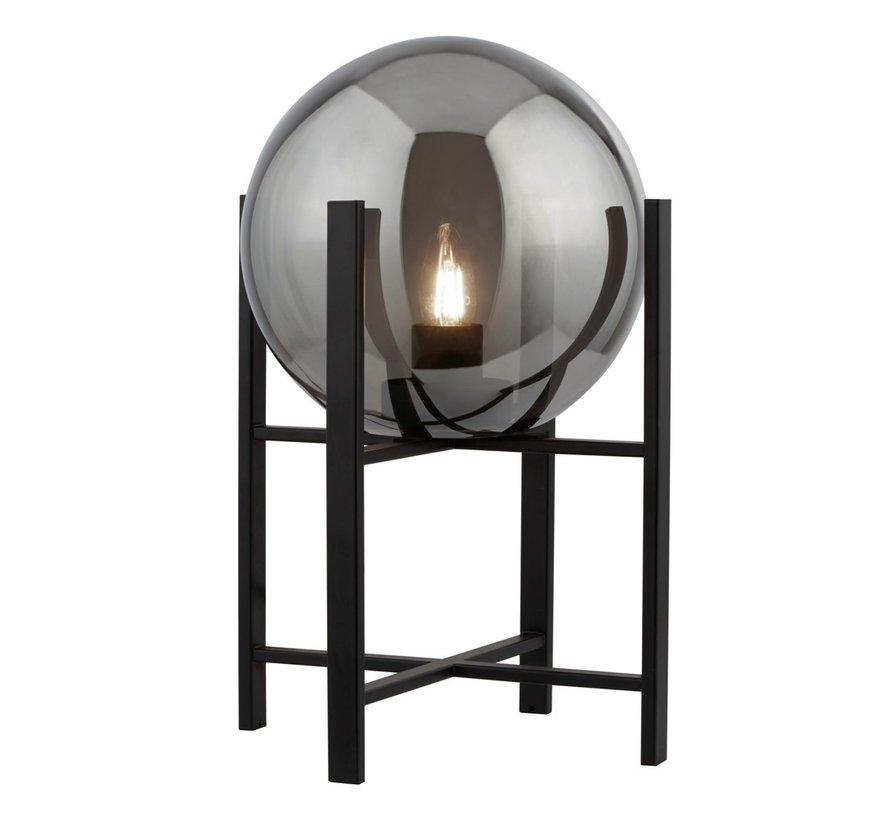 Tafellamp Amsterdam XL - Zwart/Smoke