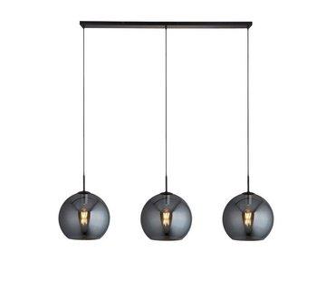 Searchlight Hanglamp Amsterdam 3L - Zwart/Smoke