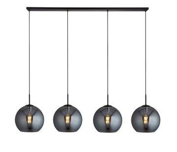 Searchlight Hanglamp Amsterdam 4L - Zwart/Smoke