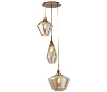Searchlight Hanglamp Mia Vide - Brons/Amber
