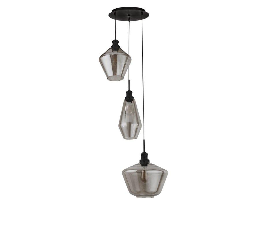 Hanglamp Mia Vide - Zwart/Smoke