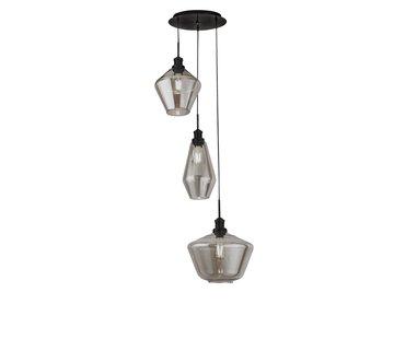 Searchlight Hanglamp Mia Vide - Zwart/Smoke