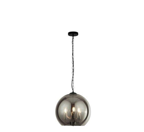 Searchlight Hanglamp Sphere - Zwart/Smoke
