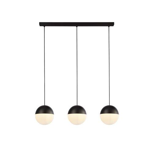 Searchlight Hanglamp Endor 3L - Zwart/Wit