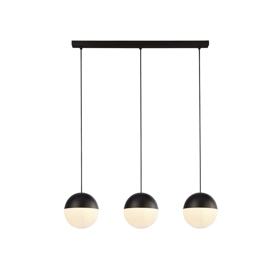 Hanglamp Endor 3L - Zwart/Wit