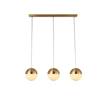 Searchlight Hanglamp Endor 3L - Goud/Wit