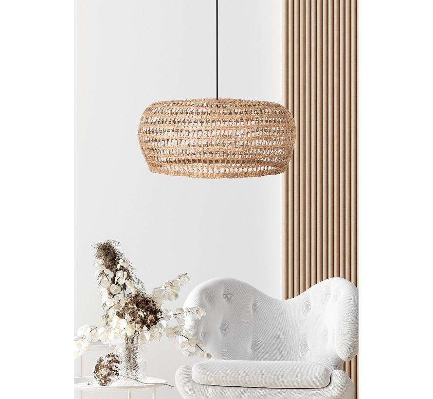 Hanglamp Seagrass 58x25cm - Zwart/Zeegras