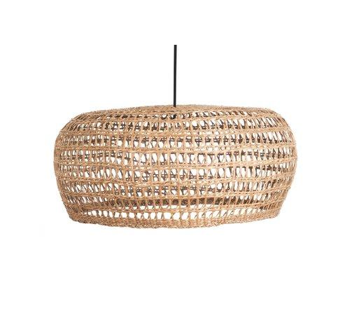 Searchlight Hanglamp Seagrass 58x25cm - Zwart/Zeegras