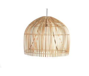 Searchlight Hanglamp Bamboo 60x50cm - Zwart/Rotan